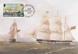Carte Maximum Bateau Ship Ile De Man  Isle Of Man 1984 - Isle Of Man