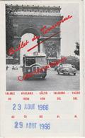 Billet De Tourisme R.A.T.P. Août 1966 Havas Voyages Bruxelles Pour Voyager Pendant 7 Jours à Paris - Autobus