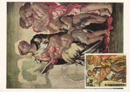 Carte Maximum Peinture Paraguay 1976 Michel-Ange Michelangelo - Paraguay