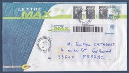 = Enveloppe Lettre Max 20g Avec Complément D'affranchissement 3x 0.10€, La Ochelle Mars 2009 - Postal Stamped Stationery