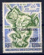 COMORES - A90° - CARTE DE MAYOTTE - Comores (1975-...)