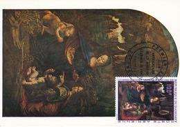 Carte Maximum Peinture Dahomey 1969 Léonard De Vinci - Stamps