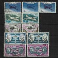 Poste Aérienne  Tp N° 38 - 39 - 41 - 46 - 47 Avec Les Variétés De Chaque Type - Variétés: 1960-69 Oblitérés