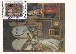 Carte Maximum Peinture Madagascar 1989 Cima Da Conegliano - Madagascar (1960-...)