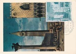 Carte Maximum Peinture Monaco 1972 Bernardo Bellotto - Cartoline Maximum