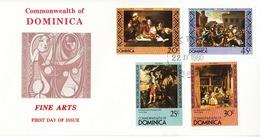 1980 Dominica FDC Fine Arts - Dominica (1978-...)