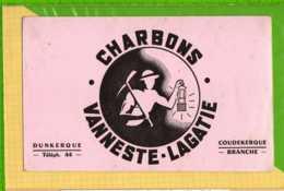 Buvard & Blotting Paper : Charbon VANESTE  LAGATIE  COUDEKERQUE BRANCHE Dessin Mineur - Electricité & Gaz