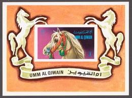 Umm Al Qiwain 1972 Mi# Bl.36** HORSES - Umm Al-Qiwain