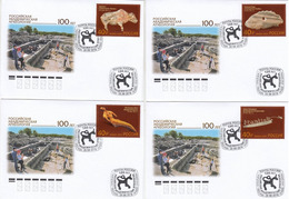 2019-2529-2532 Russia FDC Canc Moscow 100 Years Of Russian Academic Archeology.Artifacts Mi 2744-2747 - FDC