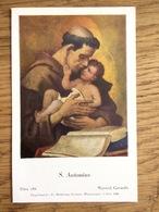 S. Antonius, Wynand Geraerdts, Gebed Voor De Franciscaanse Missies 1948, Imprimatur Dr. Jos. Keulers - Devotieprenten