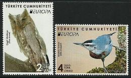 "TURQUIA /TURKEY /TÜRKEI /TURQUIE  -EUROPA 2019 -NATIONAL BIRDS.-""AVES -BIRDS -VÖGEL-OISEAUX""-SERIE De 2 TIMBRES  - N - 2019"
