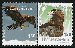 "LIECHTENSTEIN 2019 - EUROPA 2019 -""AVES - BIRDS/WILDLIFE- VÖGEL -OISEAUX ""- GOLDEN EAGLE - SET Of 2 STAMPS - 2019"