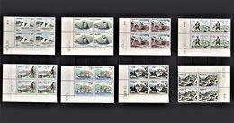 MONACO 1960 SERIE 8 BLOCS DE 4 TT / N° 56 A 62 / NEUFS** COINS DE FEUILLES / DATES - Taxe