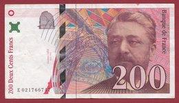 """200 Francs """"Eiffel"""" 1996 ---VF/SUP---N °E 021766747 - 200 F 1995-1999 ''Eiffel''"""