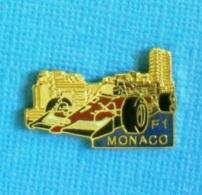 1 PIN'S //   ** FERRARI F1 / GRAND PRIX DE MONACO ** - Ferrari