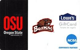 Lowes NCAA Gift Card - OSU / Oregson State University Beavers - Gift Cards