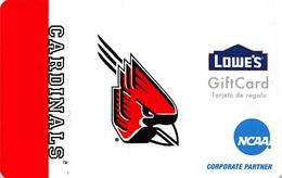 Lowes NCAA Gift Card - Cardinals - Cartes Cadeaux