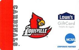 Lowes NCAA Gift Card - Louisville Cardinals - Cartes Cadeaux