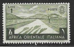Italian East Africa Scott # 12 Mint Hinged Desert Road, 1938, Small Thin - Italian Eastern Africa