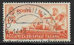Italian East Africa Scott # 14 Used Statue Of The Nile, 1938 - Italian Eastern Africa