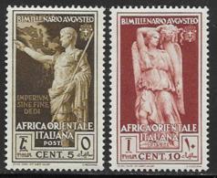Italian East Africa Scott # 21-2 MNH Caesar, Goddess, 1938 - Italian Eastern Africa