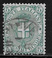 Italy Scott # 67 Used Arms Of Savoy, 1891 - 1900-44 Vittorio Emanuele III
