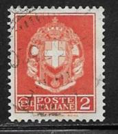 Italy Scott # 257 Used Arms Of Italy, 1930 - 1900-44 Vittorio Emanuele III