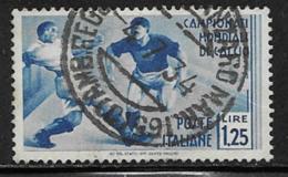 Italy Scott # 327 Used Soccer Players, 1934 - 1900-44 Vittorio Emanuele III