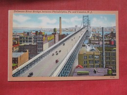 Delaware River Bridge  Camden   New Jersey >   Ref    3583 - Camden