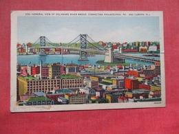 General View Of Delaware River Bridge  Camden   New Jersey >   Ref    3583 - Camden
