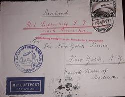 O) 1929 GERMANY, GRAF ZEPPELIN CROSSSIN OCEAN -SC C39 4m, LUFTPOST - LUFTSCHIFF GRAF ZEPPELIN, TO USA - Germany