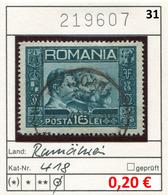 Rumänien - Roumanie - Romina - Rominia - Michel 418 -  Oo Oblit. Used Gebruikt - Gebraucht