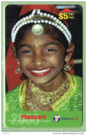Fiji - 1999 Children - $5 Indian Girl - FIJ-148 - VFU - Fiji