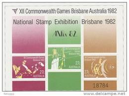 Australia 1982 Commonwealth Games  Opted ANPEX Miniature Sheet MNH - 1980-89 Elizabeth II