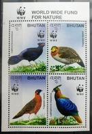 150.BHUTAN 2003 STAMP M/S BIRDS, PHEASANTS, W.W.F. . MNH - Bhutan