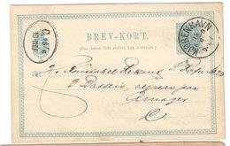21525 - Entier Avec Repiquage - 1864-04 (Christian IX)