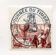 Tunisie - Tunesien - Tunisia 1955 Y&T N°388 - Michel N°(?) (o) - 12f+3f Journée Du Timbre - Gebraucht