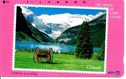 Télécarte Japon Timbre Stamp  Montagne Phonecard  Karte (G 183) - Timbres & Monnaies