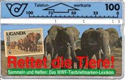 éléphant Elephant Olefant Animal Télécarte Autriche Timbre Stamp (G 186) - Timbres & Monnaies