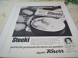 ANCIENNE PUBLICITE PUREE STOCKI DE KNORR 1964 - Affiches