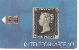 Timbre Stamp Reine Victoria Queen Télécarte Allemagne édition 1/1991 Phonecard  (G 187)) - Timbres & Monnaies