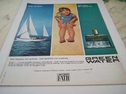 ANCIENNE PUBLICITE SON BATEAU SON MATELOT PARFUM  JACQUES FATH  1964 - Perfume & Beauty