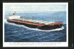 AK Handelsschiff M. V. Ocean Bridge Auf Hoher See - Cargos