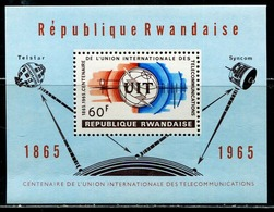 DA1382 Rwanda 1965 International Telecommunication Union Centennial M MNH - Rwanda