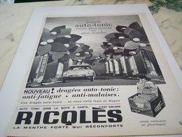 ANCIENNE PUBLICITE MENTHE FORTE DE RICQLES  1964 - Affiches