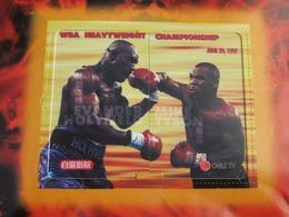 Private Issued Prepaid Phonecard,WBA Heaveyweight Championship Holyfield Vs Tyson,puzzle Set Of 2,mint In Folder, - Hongkong