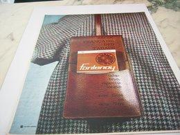 ANCIENNE PUBLICITE CIGARETTE FONTENOY FITRE OU SANS 1964 - Tabac (objets Liés)