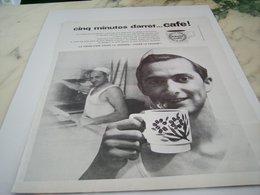 ANCIENNE PUBLICITE BOULANGER 5 MINUTES D ARRET CAFE 1964 - Affiches
