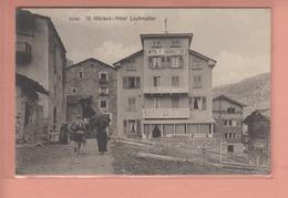 OUDE POSTKAART ZWITSERLAND - SCHWEIZ -   SUISSE - ST. NIKLAUS - HOTEL LOCHMATTER - VS Valais