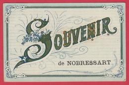Nobressart - Souvenir De ...- Jolie Carte Fantaisie , Décorée De Brillants - 1907 ( Voir Verso ) - Attert